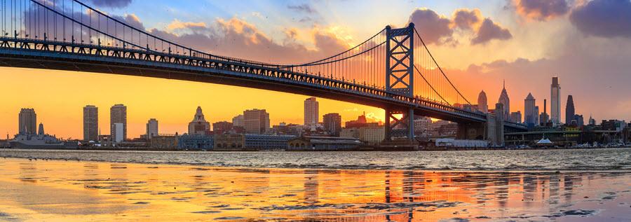 Ben Franklin Bridge.