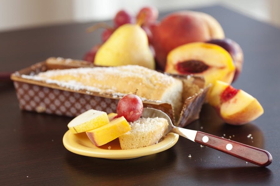 Cake with Fruit.