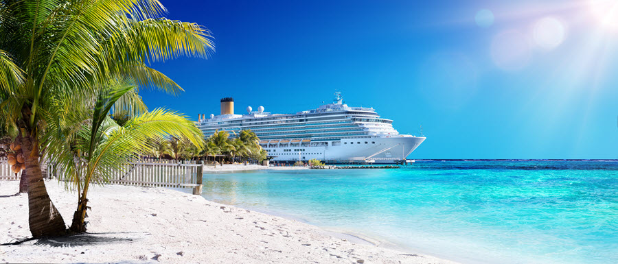 Cruise Ship in the Caribbean.