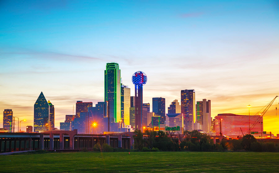 Dallas in the Early Morning.