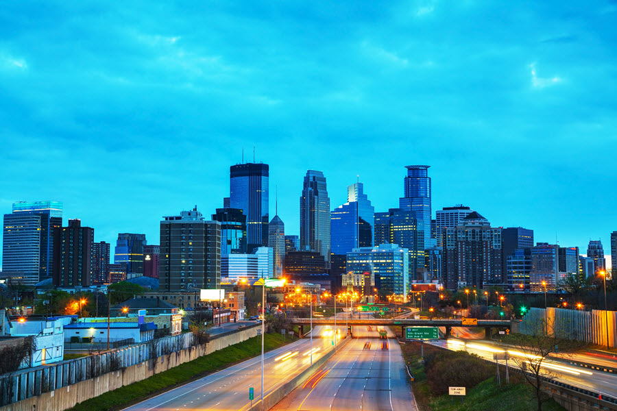 Downtown Minneapolis, Minnesota.