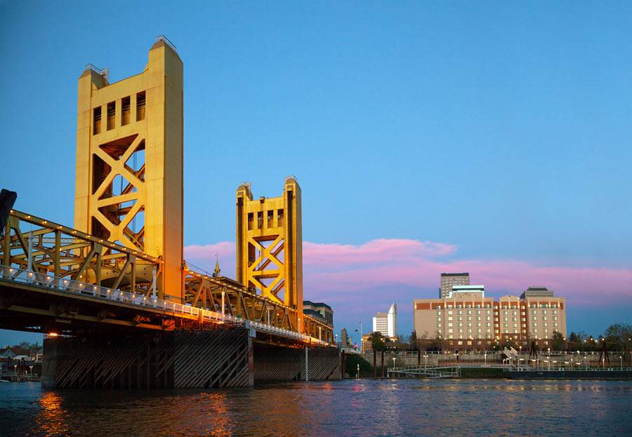 Golden Gates Drawbridge in Sacramento.