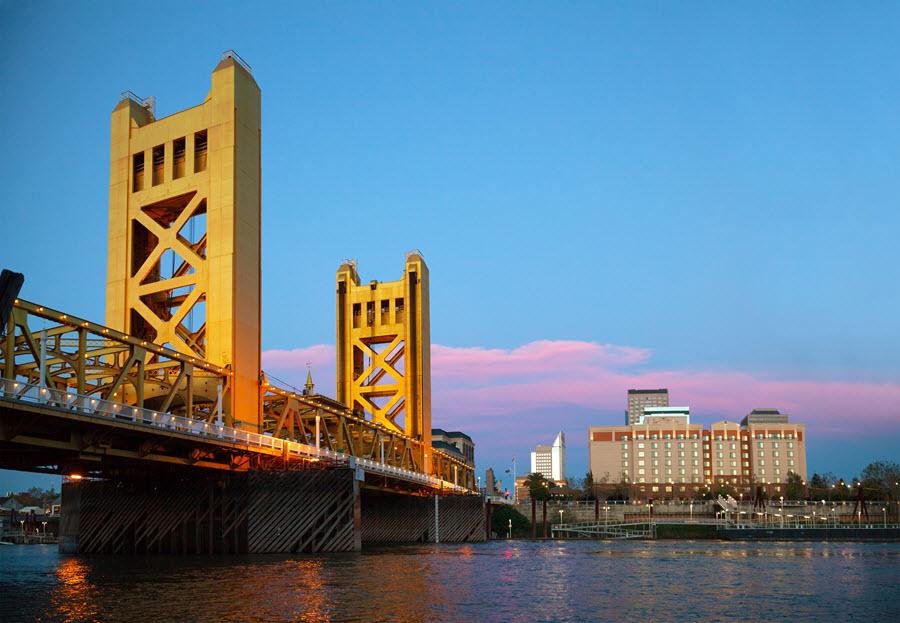 Golden Gates Drawbridge in Sacramento.