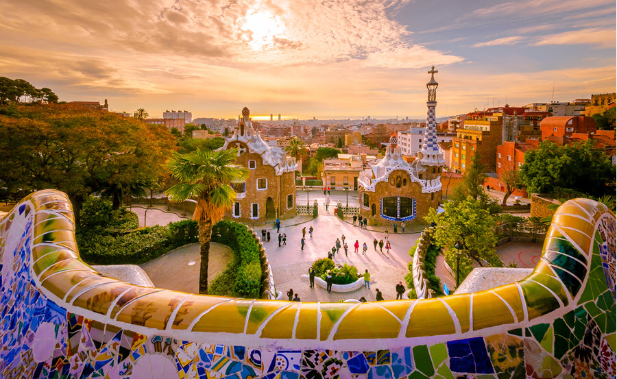 Guell Park in Barcelona.