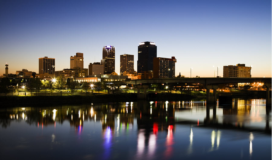 Little Rock, AR Skyline.