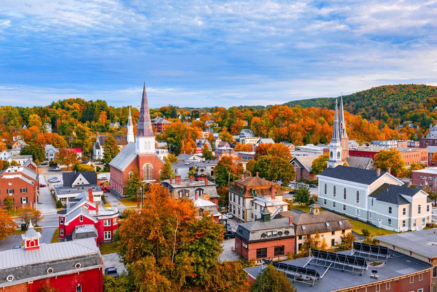 Montpelier, Vermont Skyline.