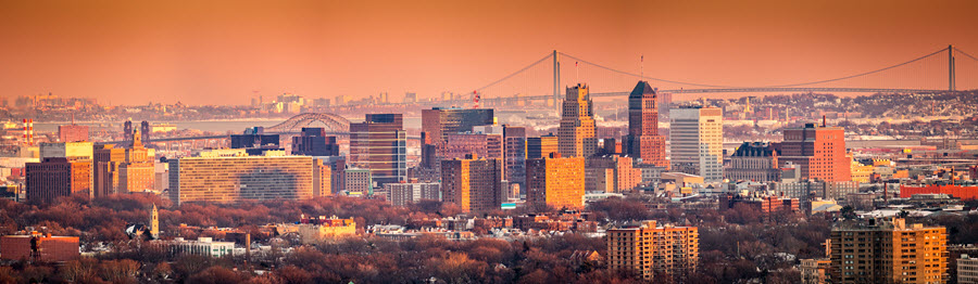 Newark, New Jersey Skyline.