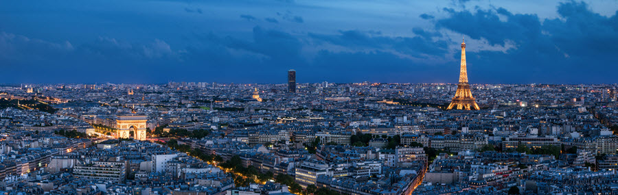 View of Paris at Night.