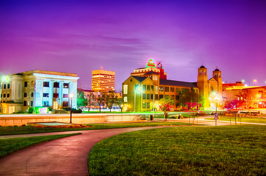 Topeka at Night.